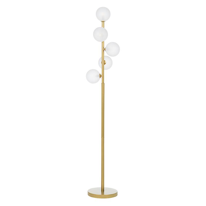 BALLS GOLD FLOOR LAMP 5BULBS H156