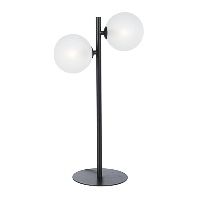 LAMPADA TAV. BALLS 2LUCI NERO H54