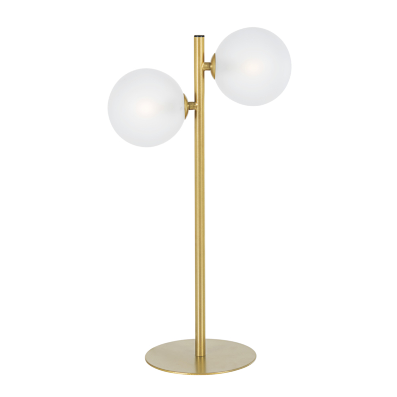 BALLS GOLD TABLE LAMP 2BULBS H54