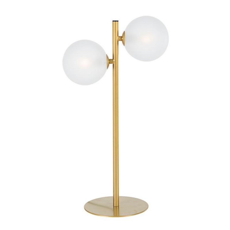 LAMPADA TAV. BALLS 2LUCI ORO H54