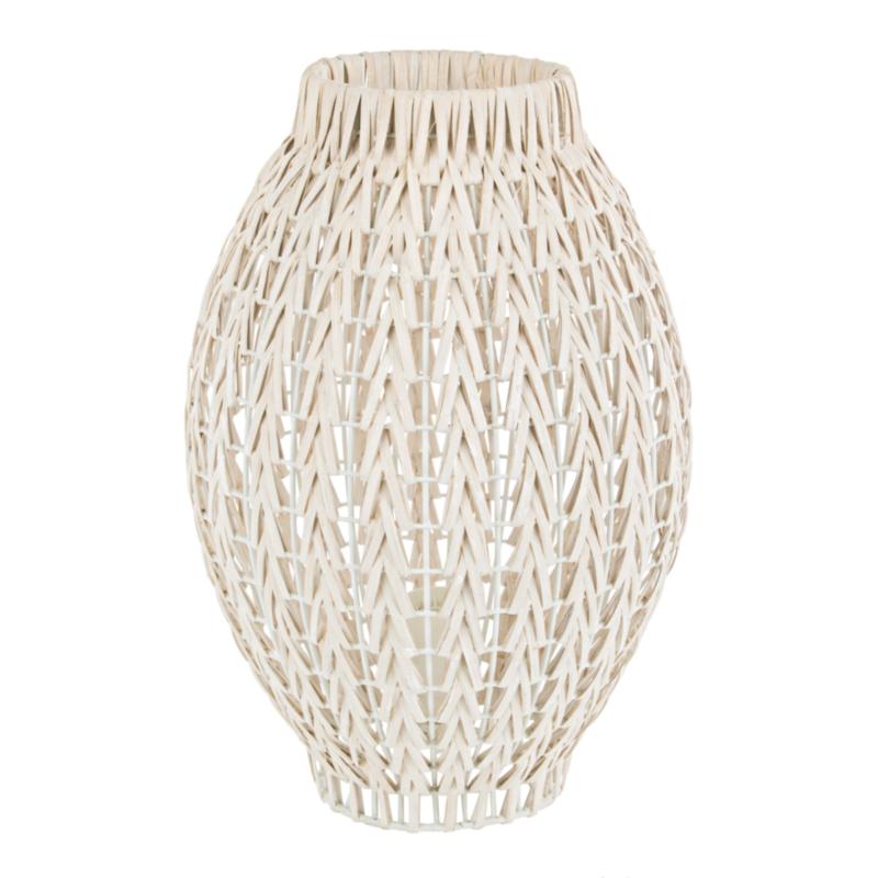 LAMPE ATLAS ROTIN BLANCHI H36