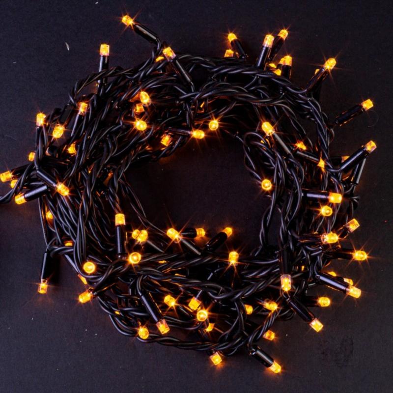 100 LED-LICHTER OUT GELB M-STEU.