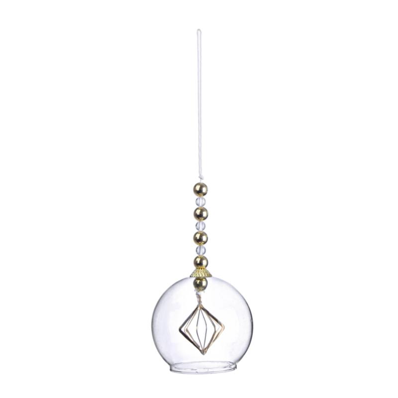 ELIZABETH PINWHEEL ORNAMENT W-GLASS