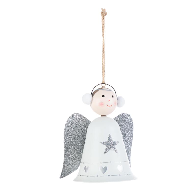 KEILA WHITE ANGEL ORNAMENT