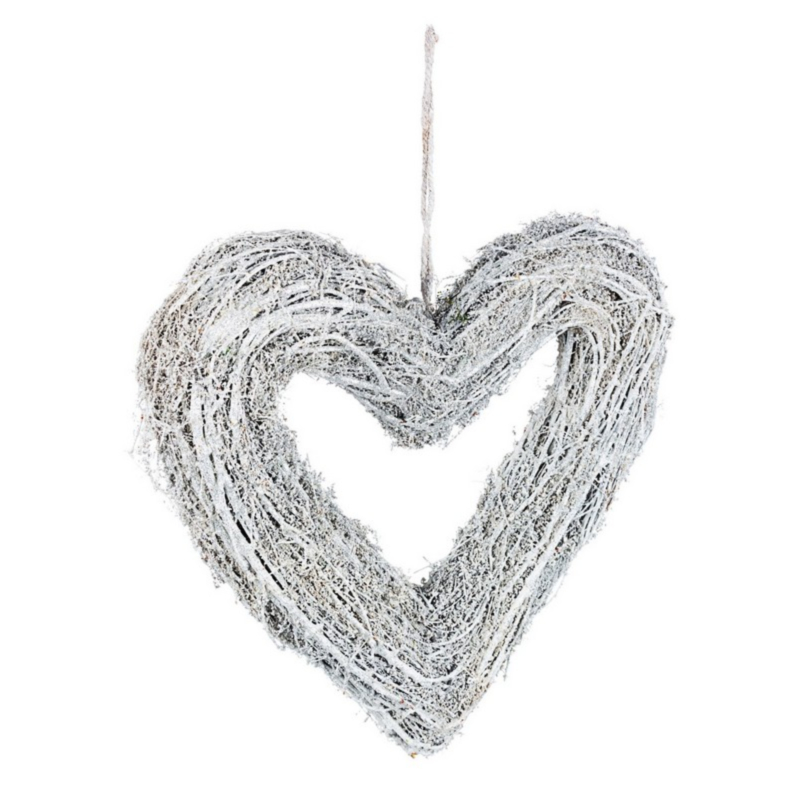 FOREST WHITE HEART DECORATION