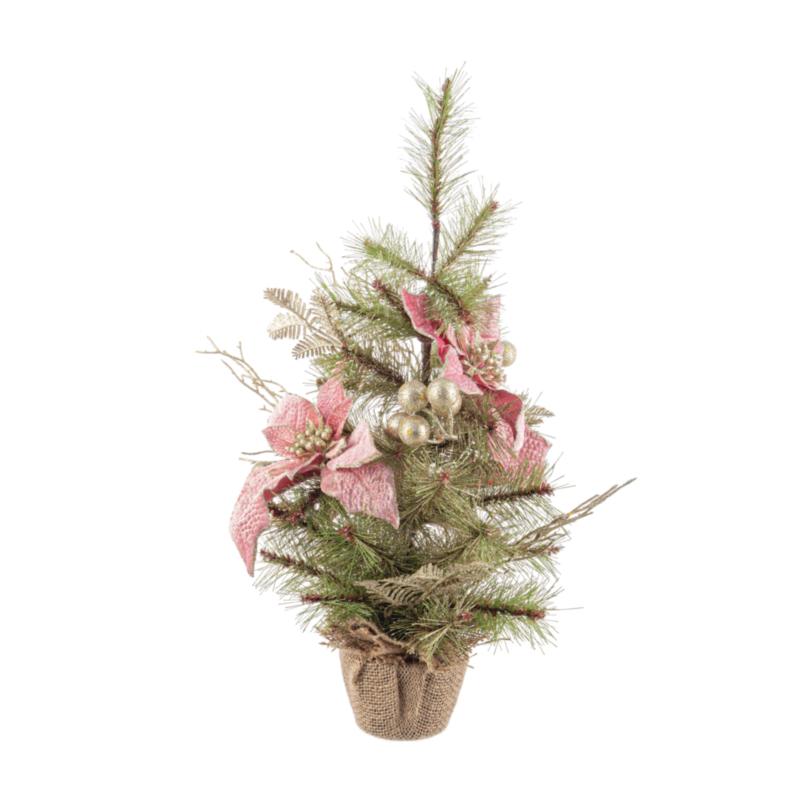 ANNABEL PINK POINSETTIA TREE H60