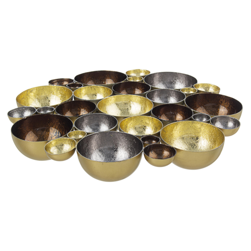 ANISHA GOLD-BROWN CANDLE HOLD.GROUP